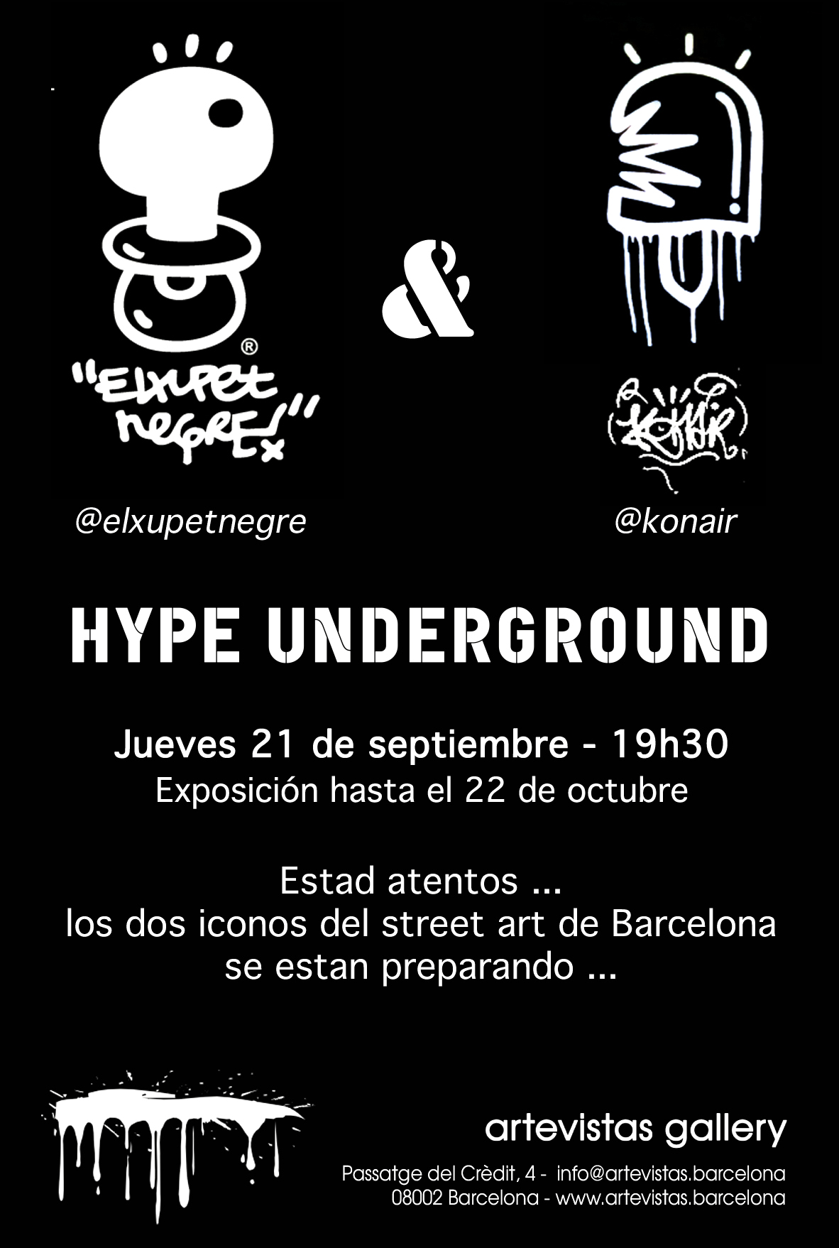 Hype Underground <br />El Xupet Negre & Konair